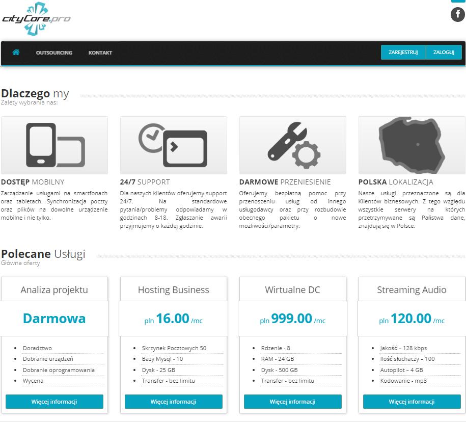 Budowa platformy biznesowej Citycore